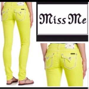 Miss Me Yellow Lemon Skinny Jeans